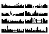 European capital silhouettes