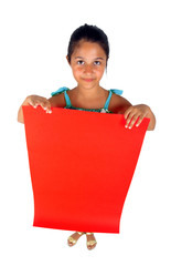 Cartellone pubblicitario rosso