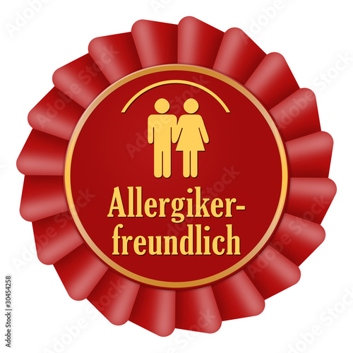 allergikerfreundlich button icon allergie rot