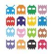Pixel monster icon