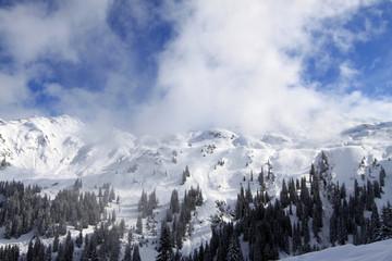 Winterlandschaft in Vorarlberg