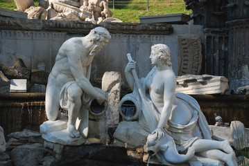 parco di Schönbrunn, rovine romane