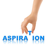 Hand and word Aspiration poster