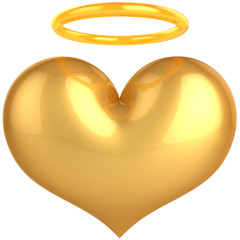 Heart Love Angel golden symbol. In Love we trust!