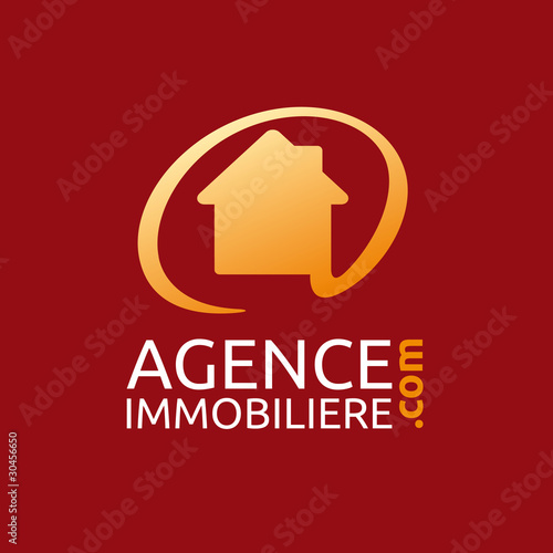 logo agence immobiliere fichier vectoriel libre de. Black Bedroom Furniture Sets. Home Design Ideas