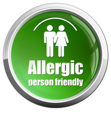 allergic person friendly button glossy