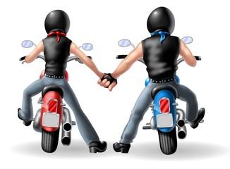 coppia bikers
