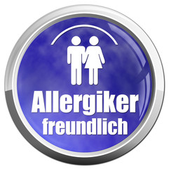 allergikerfreundlich button icon allergie blau weiß