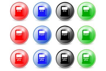 Kraftstoffe Buttons