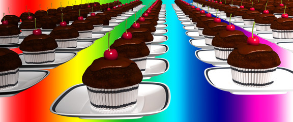 muffin dolce pasticcino 3d