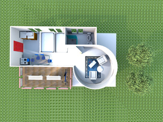 Home for young couple-3d rendering