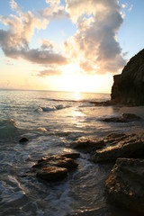 Sunset at Cupecoy Gay Beach in St. Martin - Caribbean
