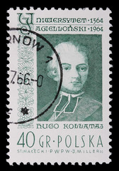 Poland - CIRCA 1964: A stamp - Hugo Kollataj