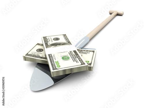 Geld schaufeln