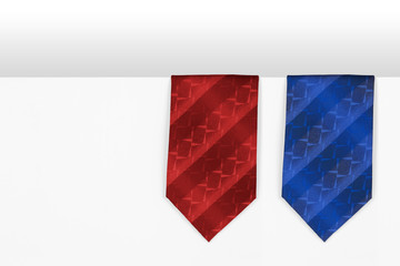 The two men tie