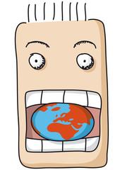 bocca mangia il mondo