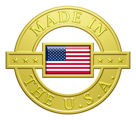 """""""Made In The U.S.A."""" Golden Plate"""
