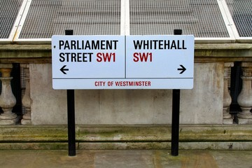 Whitehall streetsign in London