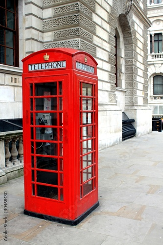 Red telephone box in London - 30468430