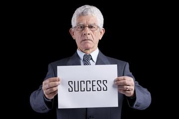 Successful senior businessman