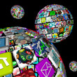 Galaxy of Apps - Several Spheres of Application Tiles