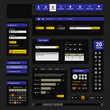 Web Design Element Dark Black