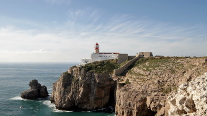 Lighthouse at Cabo Sao Vincente at Sagres Portugal