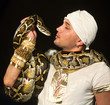 young man with a python