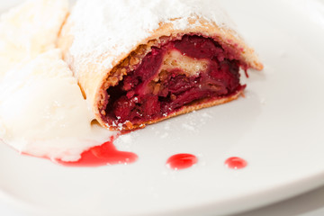 cherry strudel closeup