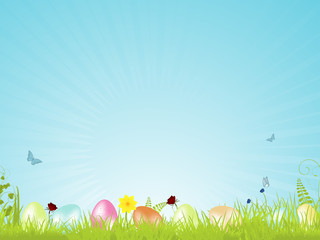 Tranquil Easter background