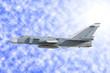 Military jet bomber Su-24