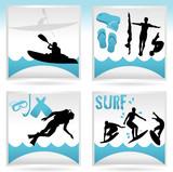 Fototapety icônes sport d'eau