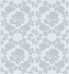 Seamless ornament floral, gray