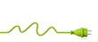 Leinwanddruck Bild - Green power plug - water energy