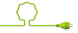 Green power plug - tree