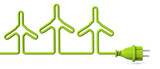 Green power plug - wind energy
