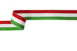 Leinwanddruck Bild - nastro verde bianco rosso