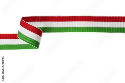 Leinwanddruck Bild nastro verde bianco rosso