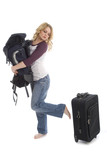 Woman with baggage choice