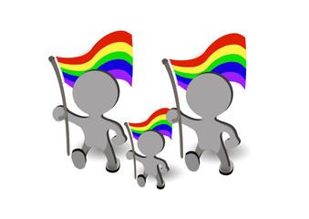family gay a gay rainbow flag