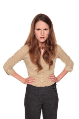 businesswoman - angry frown