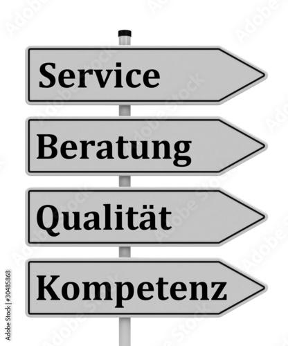 Service, Beratung, Qualität, Kompetenz