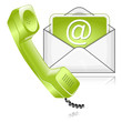 mail phone green