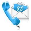 contact us symbol blue