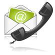 contact us symbol green black