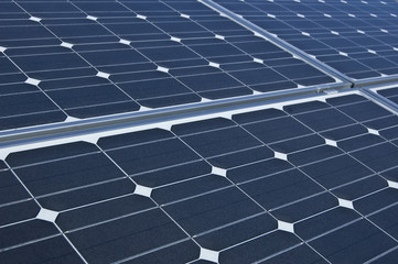 Photovoltaic electricity generating solar panels