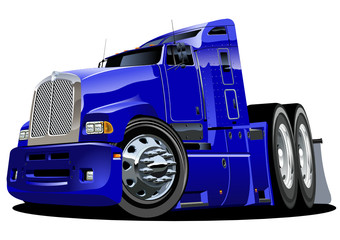Vector cartoon semi-truck