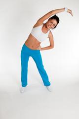 woman exercising aerobics
