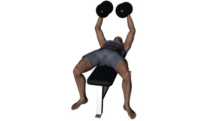 Man lifting weights seamless video loop