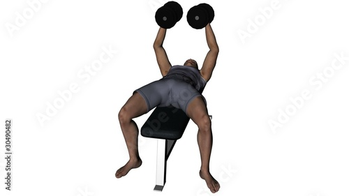 Man lifting weights seamless video loop